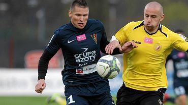 Marcin Robak w meczu Pogoń - Widzew (1:0)
