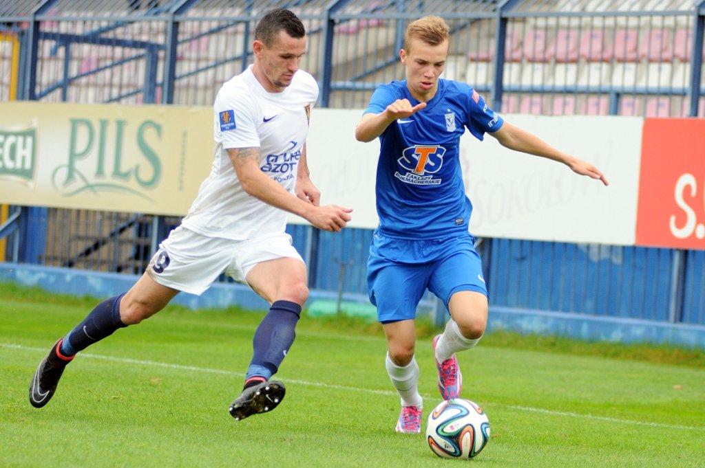 Lech Poznań - Pogoń Szczecin 0:0 w sparingu rozegranym we Wronkach. Jakub Serafin i Adam Frączczak