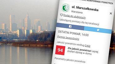 Smog w Warszawie, 5 marca 2018