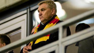 Tadeusz Truskolaski na meczu Jagiellonii