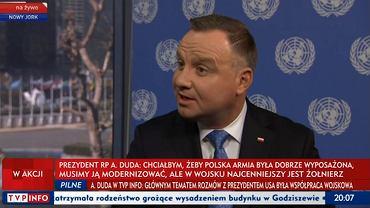 Andrzej Duda był gościem 'Wiadomości' TVP