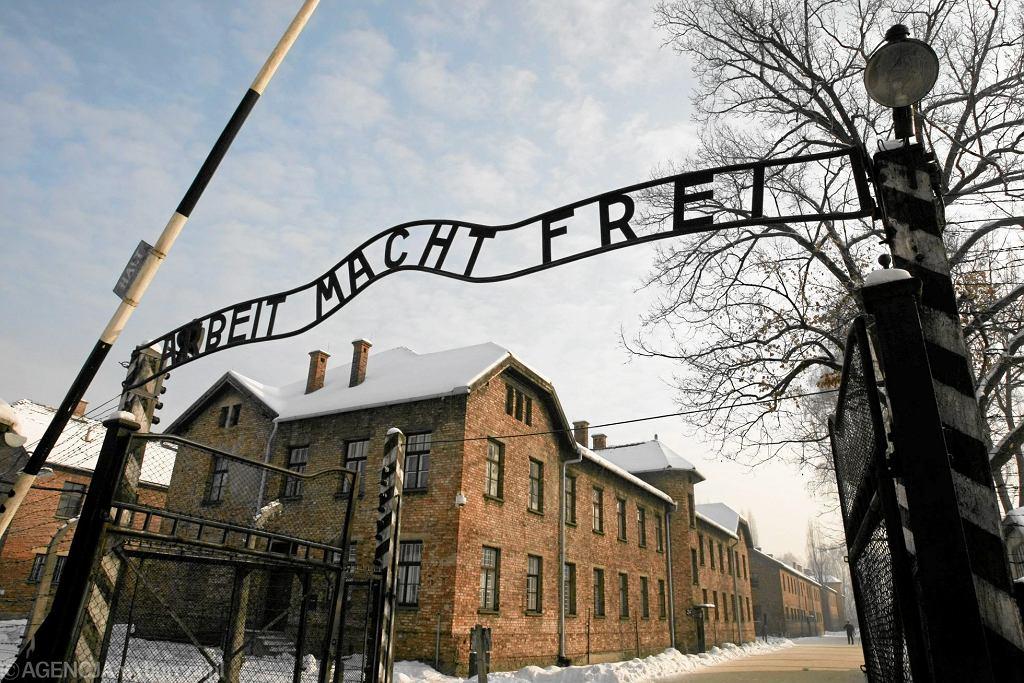 Brama obozu koncentracyjnego Auschwitz / )Fot. Krzysztof Karolczyk / Agencja Gazeta