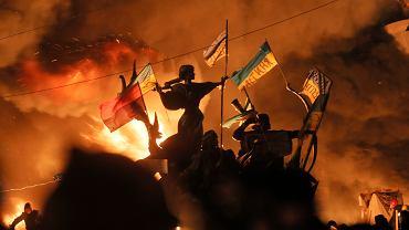 18.02.2014, protesty na Majdanie w Kijowie.