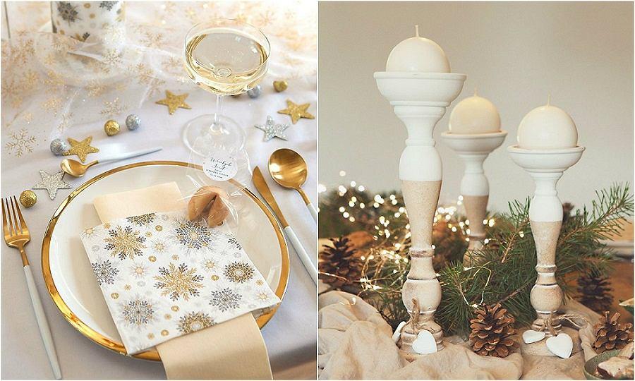 Świąteczne dekoracje stołu wigilijnego