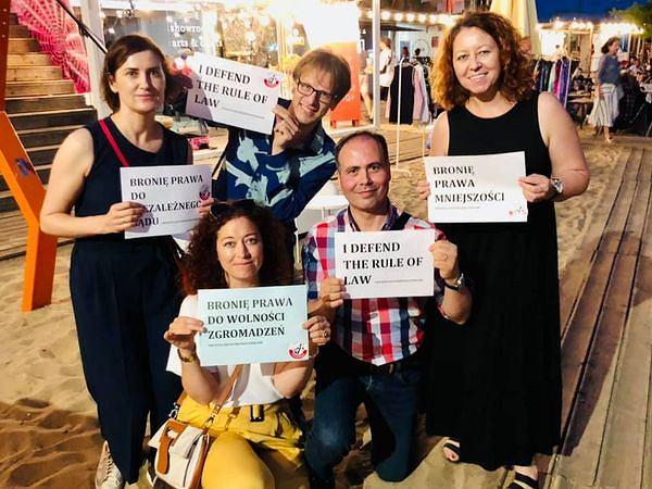 Sędziowie 'Iustitii' w kampanii Wszyscy jesteśmy rzecznikami