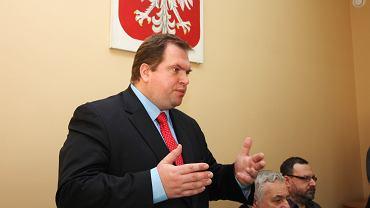 Paweł Piskorski w Izbie Rzemieślniczej w Zielonej Górze