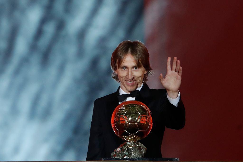 Luka Modrić ze Złotą Piłką