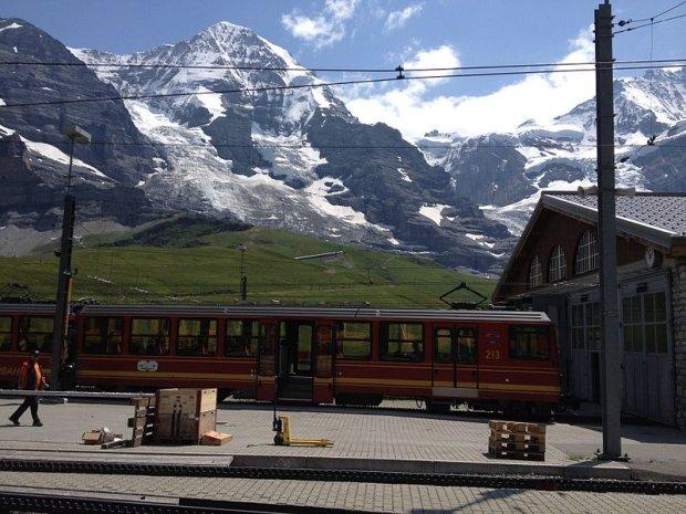 Kolej w stronę Jungfraujoch/ fot.CC 3.0/Heights/Wikimedia Commons