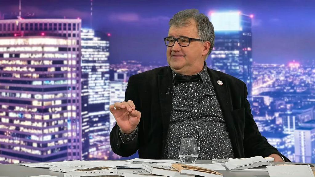 Andrzej Tadeusz Kijowski w telewizji wPolsce.pl, 2019 r.