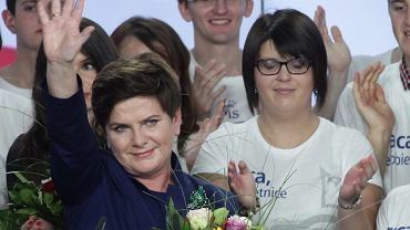 Wieczór Wyborczy w PiS. Beata Szydło