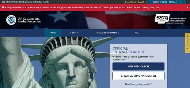 System rejestracji ESTA