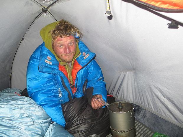 Tomasz Mackiewicz w górach mało jadł, nie miał apetytu (fot. arch. prywatne)