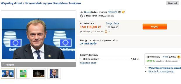 Aukcja Donalda Tuska