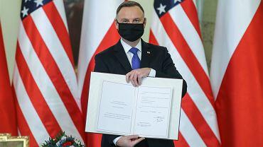 Andrzej Duda ratyfikował polsko-amerykańską umowę o wzmocnionej współpracy obronnej