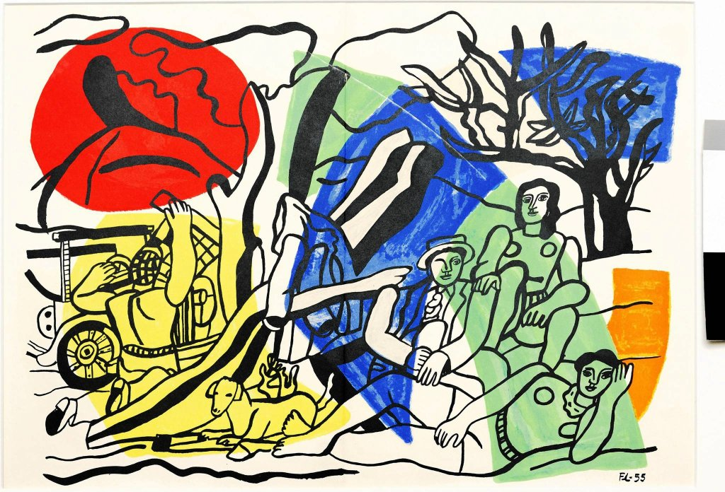 'La partie de campagne' Fernanda  Légera pokazywana na wystawie 'Marc Chagall i malarze europejskiej awangardy' / 'La partie de campagne' Fernanda  Légera pokazywana na wystawie 'Marc Chagall i malarze europejskiej awangardy'