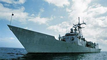 Polska fregata rakietowa ORP Gen. Kazimierz Pułaski bierze udział w manewrach Northern Coasts 2017