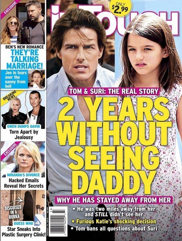 Tom Cruise z córką Suri na okładce 'In Touch'