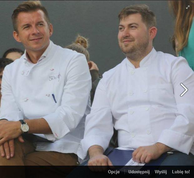 Michał, właściciel La Torre i Karol Okrasa