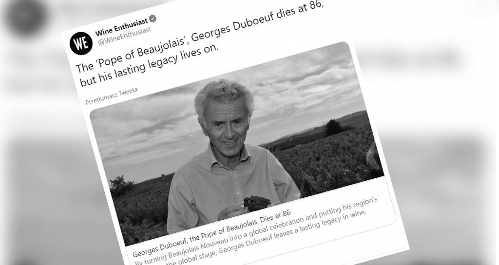 Georges Duboeuf zmarł w wieku 86 lat