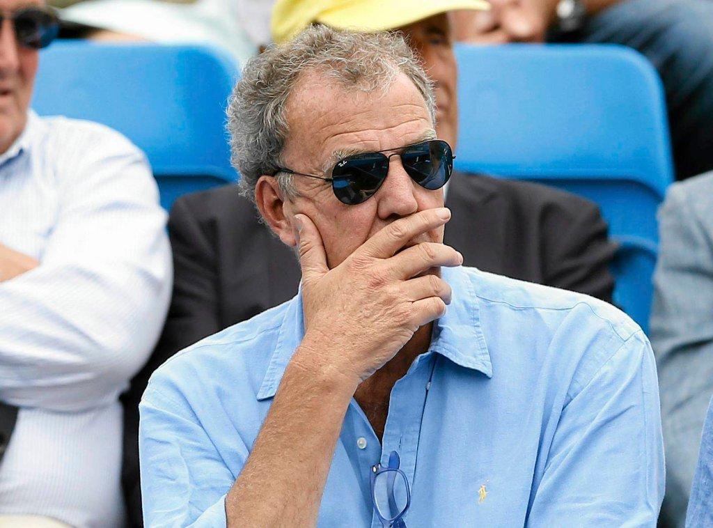 Jeremy Clarkson na widowni podczas meczu tenisa