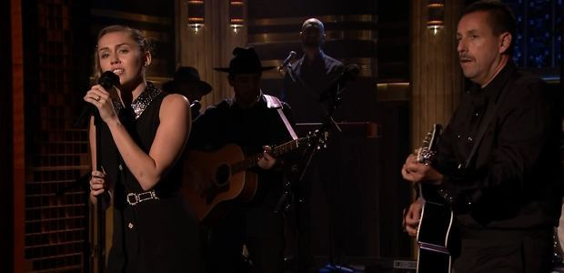 Miley Cyrus Adam Sandler 'No Freedom' Dido. Jimmy Fallon The Tonight Show