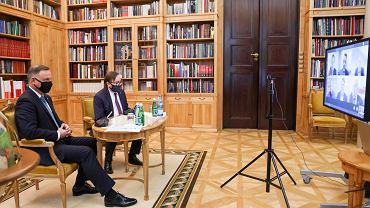 Spotkanie prezydenta Andrzeja Dudy ze związkowcami sektora handlowego