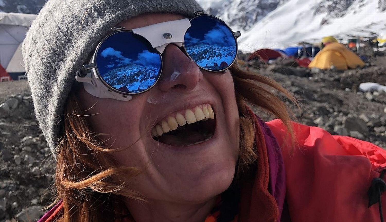 Magdalena Piątkowska w czasie wyprawy wspinaczkowej