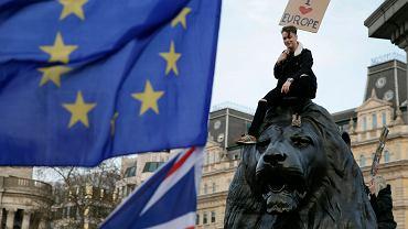 Brexit. Marsz przeciwników wyjścia Wielkiej Brytanii z UE. Londyn, 23 marca 2019 r.