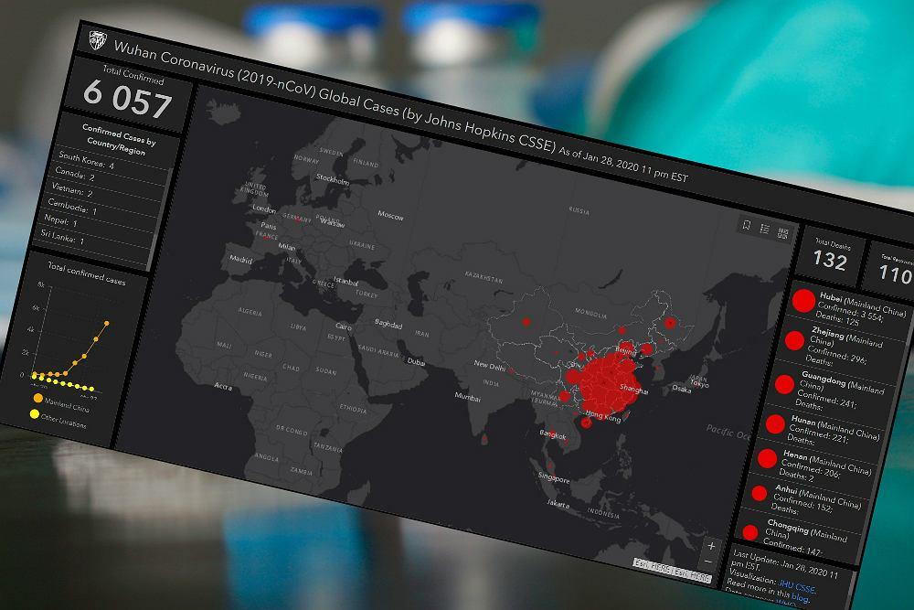 Powstała mapa, która pokazuje, gdzie jest koronawirus