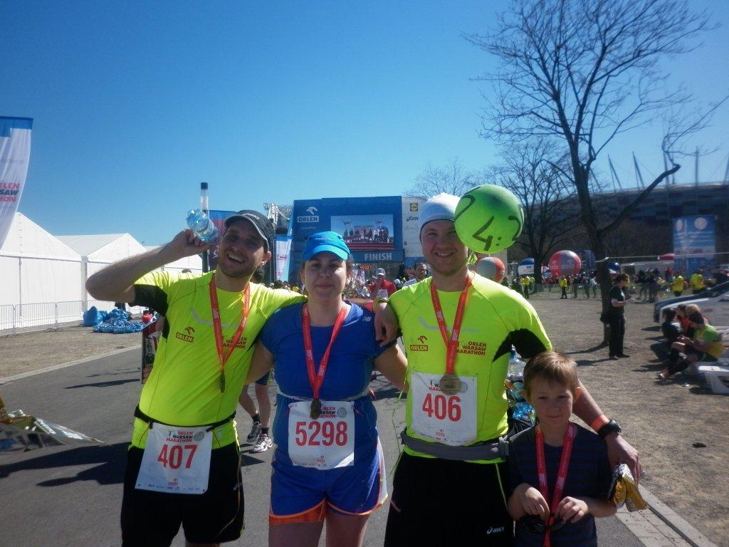 Po ukończeniu pierwszego maratonu. (arch. N.Szule)Nola Szule, orlen marathon