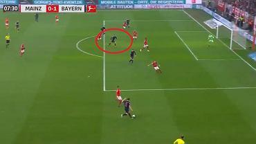 Gol Roberta Lewandowskiego w meczu Mainz - Bayern Monachium