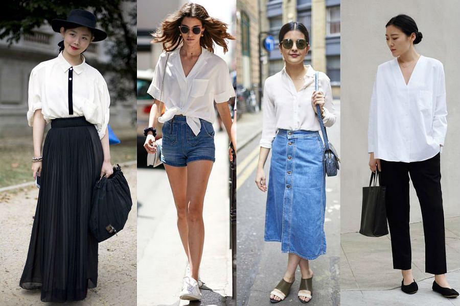 Biała koszula daje nieskończenie wiele możliwości