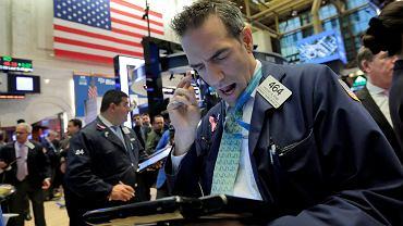 Trader na nowojorskiej giełdzie
