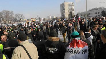 Środowa demonstracja pod siedzibą JSW