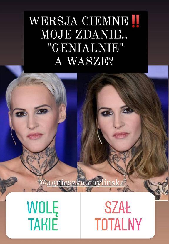 Agnieszka Chylińska w długich i ciemnych włosach? Metamorfoza piosenkarki zachwyciła internautów