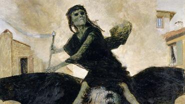 Zaraza - dżuma. Arnold Böcklin (1827 - 1901), fragment obrazu