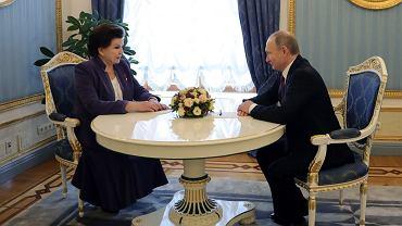 Walentyna Tierieszkowa i Władimir Putin