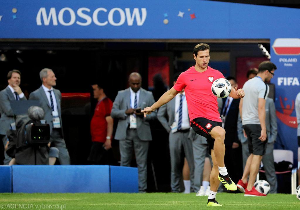 18 czerwca Grzegorz Krychowiak trenował w Moskwie przed meczem z Senegalem. teraz się tu przeprowadzi na stałe