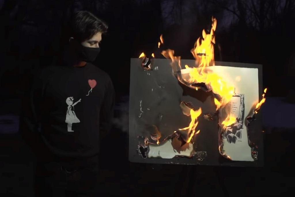 Spalenie obrazu 'Morons'