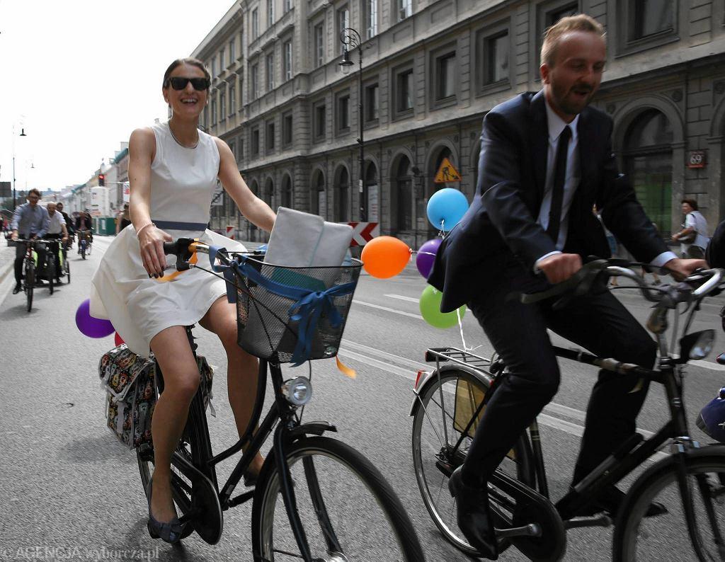 Aleksandra Lubańska i Kacper Czubak do ślubu pojechali rowerami
