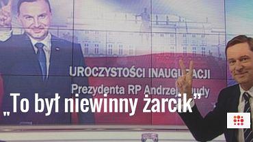 Krzysztof Ziemiec w studiu TVP