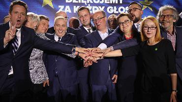 Wieczór wyborczy Koalicji Europejskiej