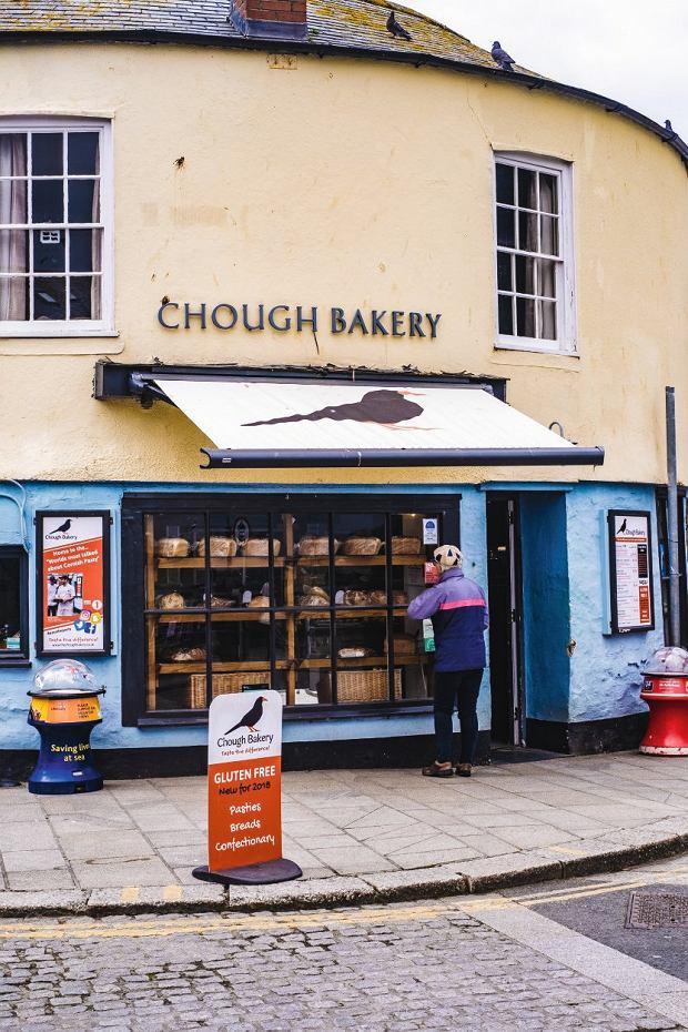 Słynna Chough Bakery wPadstow -można tu kupić jedne znajlepszych pasties wKornwalii