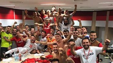 Reprezentacja Macedonii po zwycięstwie z Izraelem