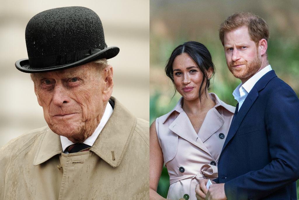 Książę Filip / Meghan Markle i książę Harry