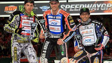 Podium w Kopenhadze. Od lewej: Troy Batchelor, Niels Kristian Iversen i Greg Hancock