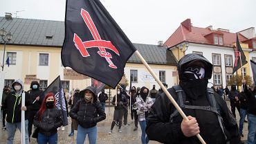 Białystok . Rozwiązany marsz narodowców i nacjonalistów