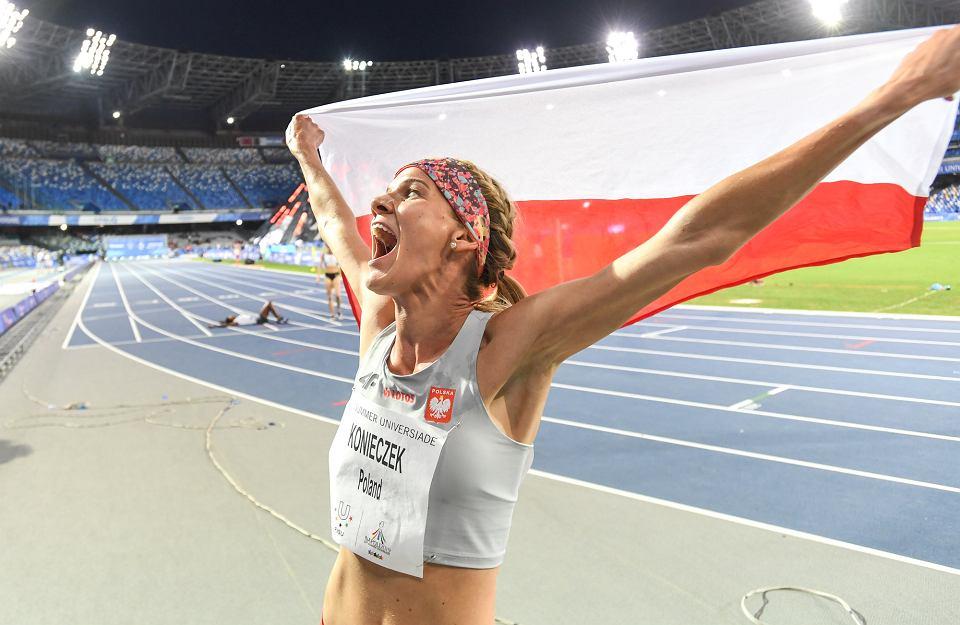 Alicja Konieczek podczas biegu w Neapolu