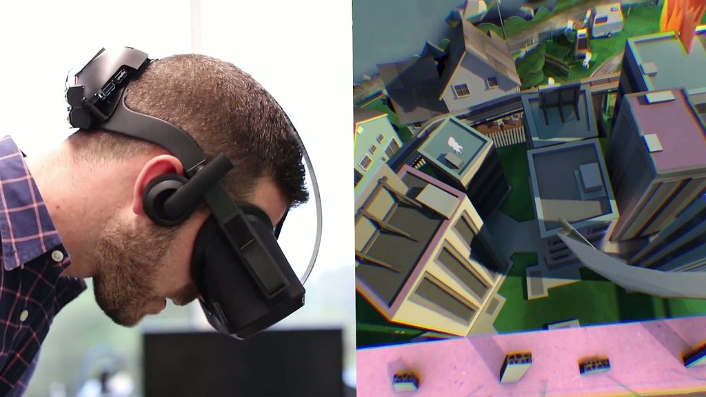 Prototyp Oculus Rift - VR bez kabli