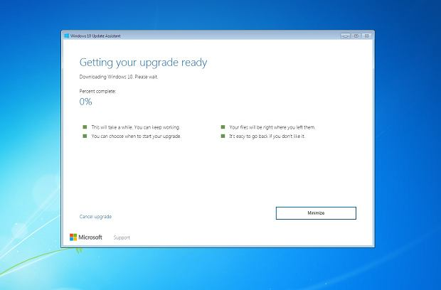 Narzędzie do aktualizacji Windows 10 wciąż działa